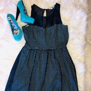 Maurice's Navy & aqua Eyelet dress